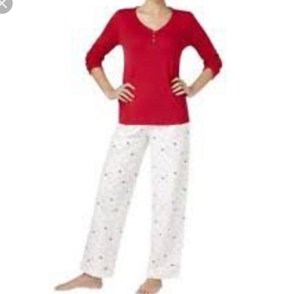 1af67dad7b NWT Charter Club Cotton Flannel Birds Pajama Set